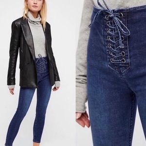 Free People lace up jeans